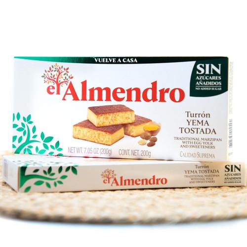 Sugar-free Caramel Egg Yolk turron by El Almendro