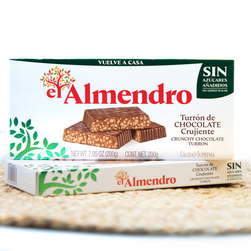 Sugar-free Crunchy Chocolate Turron by El Almendro