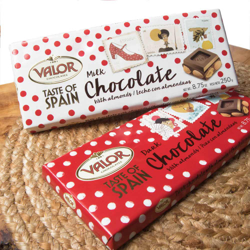 Valor Milk Chocolate with Almonds 'Taste of Spain'