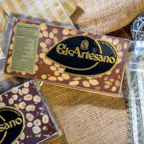 Chocolate and Almonds Nougat Turron by El Artesano