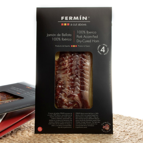Sliced Jamón Ibérico de Bellota Ham by Fermín - 2 oz