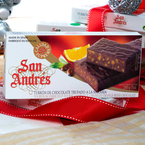 Truffled Orange nougat with Chocolate by San Andres