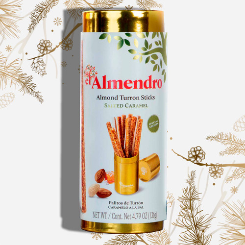 Salted Caramel Almond Turron Sticks in Gift Presentation by El Almendro