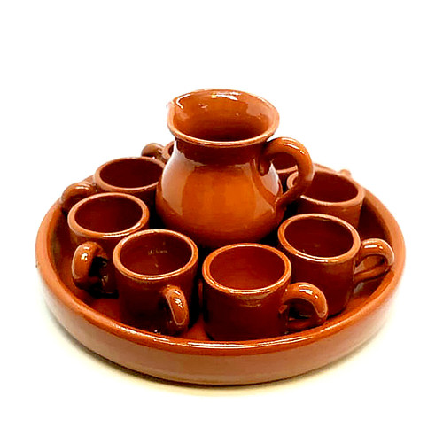 Espresso Coffee Set - terracotta