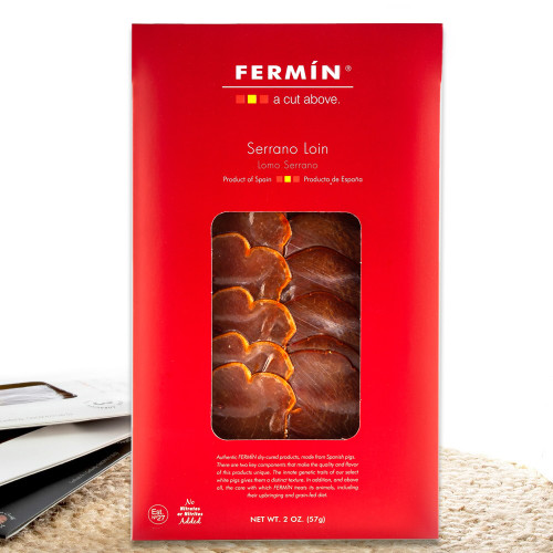 Lomo Serrano Dry-Cured Pork Loin in Slices by Fermín - 2 oz