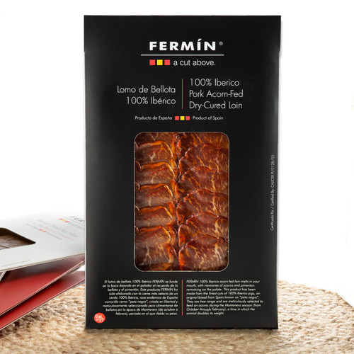 Lomo - Dry-Cured Iberico de Bellota Pork Loin in Slices by Fermín - 2 oz