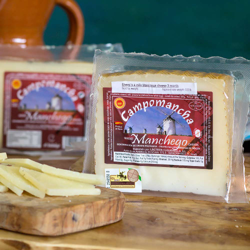 Campomancha Manchego Cheese 1.15 Pounds Half Wheel D.O.