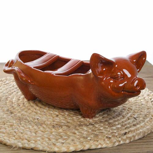 Terra Cotta Piggy Grill for Spanish Chorizo