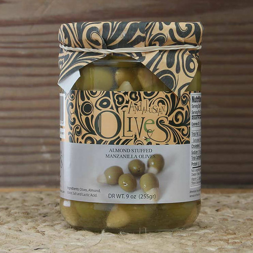 Green Olives Stuffed with Almond by Andalusian Olives