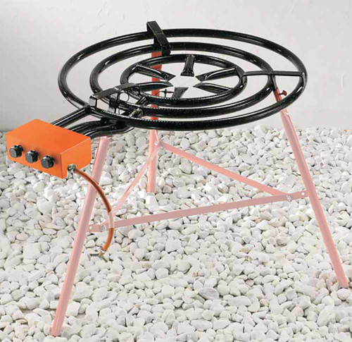 Professional Three-Ring Gas burner for Paella