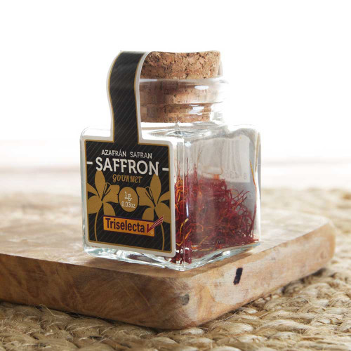 Saffron Filaments jar by Triselecta