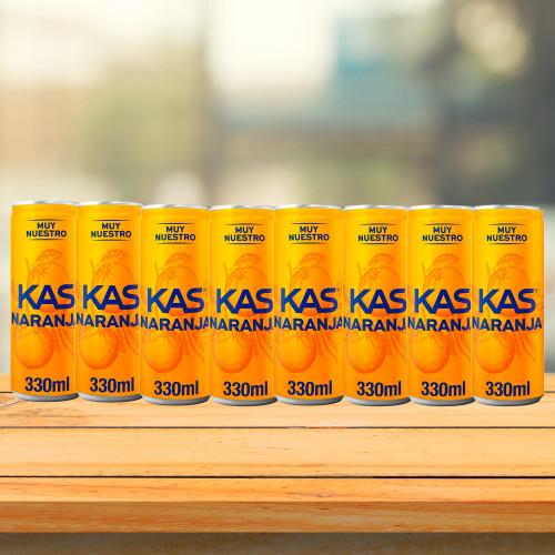 8 cans of Kas Naranja Soda