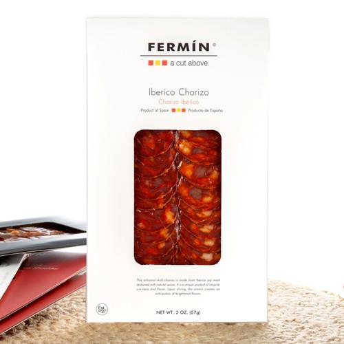 Spanish Chorizo Ibérico in Slices by Fermín - 2 oz