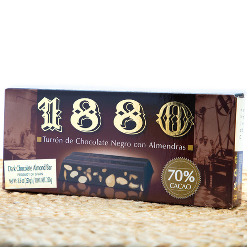 Turron Dark Chocolate Almond bar by 1880