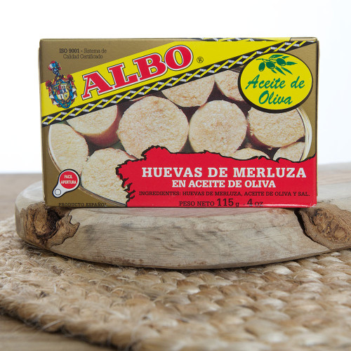 1 Tin of Roe of Hake in Olive Oil by Albo