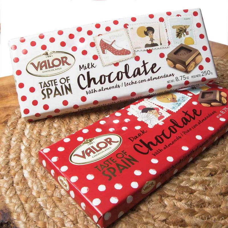 Valor Milk Chocolate with Almonds 'Taste of Spain'