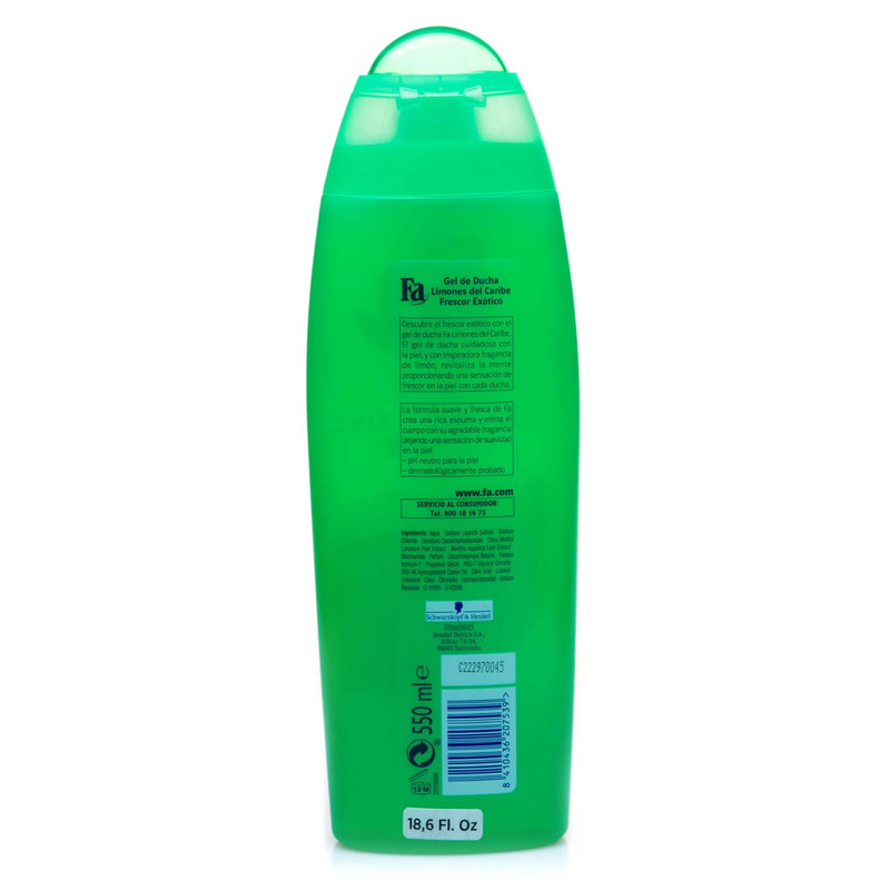 Shower gel Limones del Caribe by Fa