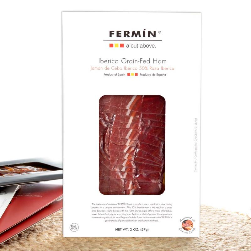 Sliced Jamón Ibérico Ham by Fermín - 2 oz