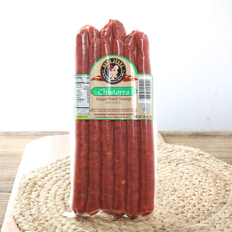 Spanish Cooking Sausage by Doña Juana.