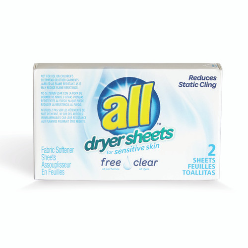 All Free & Clear Softener Sheets 2 per box 100 count
