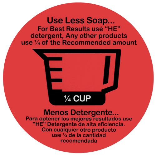 "Decal ""Use Less Soap"" 1/4 Cup 20 count"