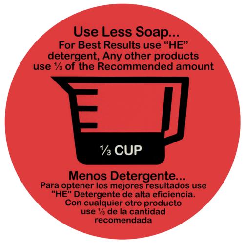 "Decal ""Use Less Soap""1/3 Cup 20 count"