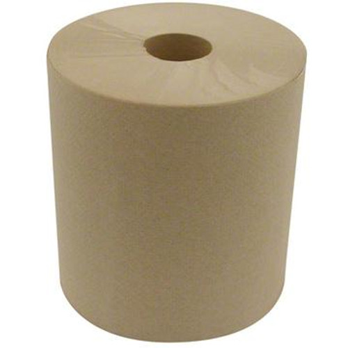 Towel Roll Hardwound Natural 800'/ 6 count
