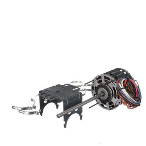 """2840 genteq 5"""" Dia., PSC, 0.6 Amps, 1/2"""" X 8"""" Shaft, Mounting Rings, 60 Hz, Replaces Trane"""