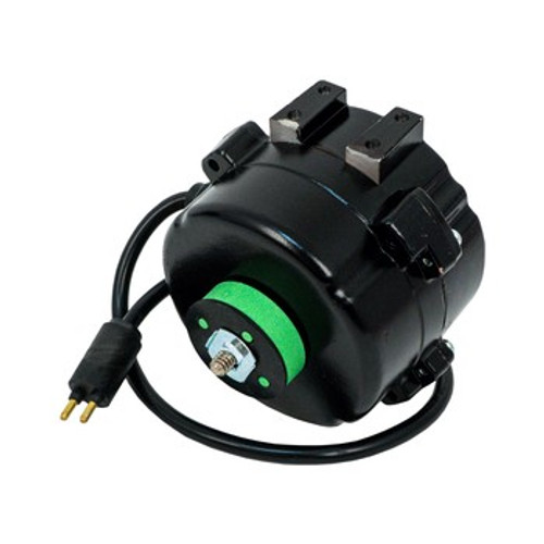 5412EC EC Unit Bearing Motor, 4-25 Watt, 1550 RPM, 0.1-.56 Amps, CCW Lead End , Double Foot Pad, 2 Pin Lyall Straight Plug, 5 Drilled & Tapped Holes in Rear, Include 4 in. Plastic Water Shield, IP67, 60 Hz