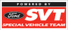 "POWERED BY SVT Window Cling - 4""x1.75"""
