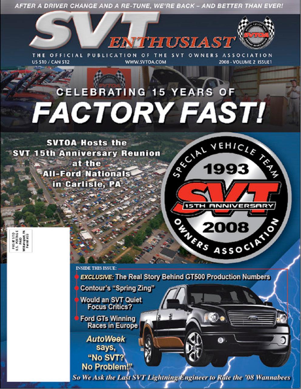 SVT Enthusiast Magazine Vol 2 Issue 1 - 2008
