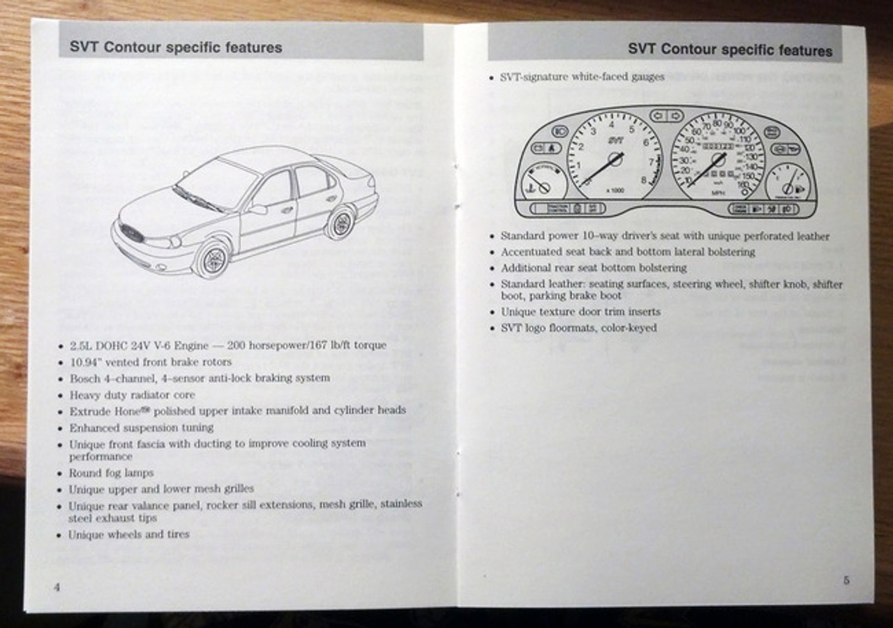 SVT Contour Owner Manual and Supplemental Guide