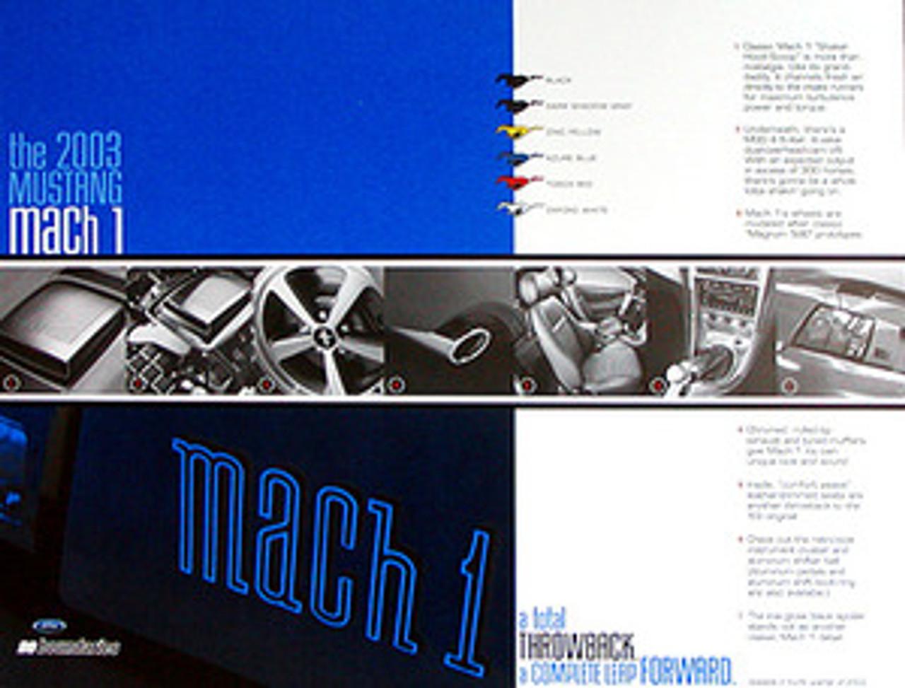 2003 Mustang Mach1 Tech Card - Set of 2