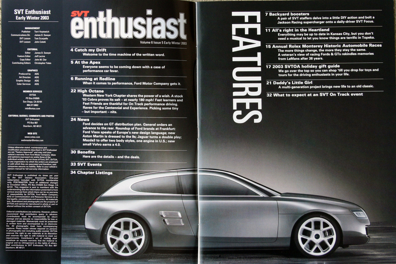 SVT Enthusiast Magazine - Winter 2003