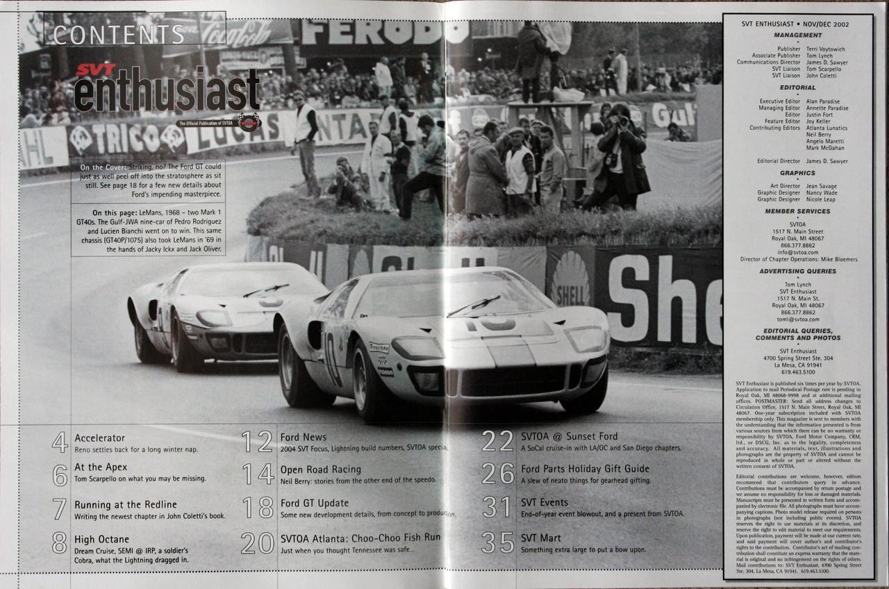 SVT Enthusiast Magazine - November 2002