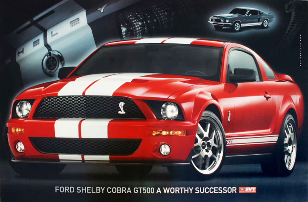 2007 GT500 Poster - Red