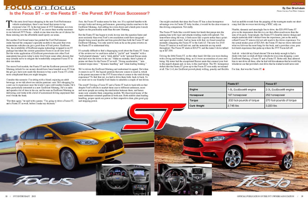 SVT Enthusiast Magazine Vol 7 Issue 1 - 2015
