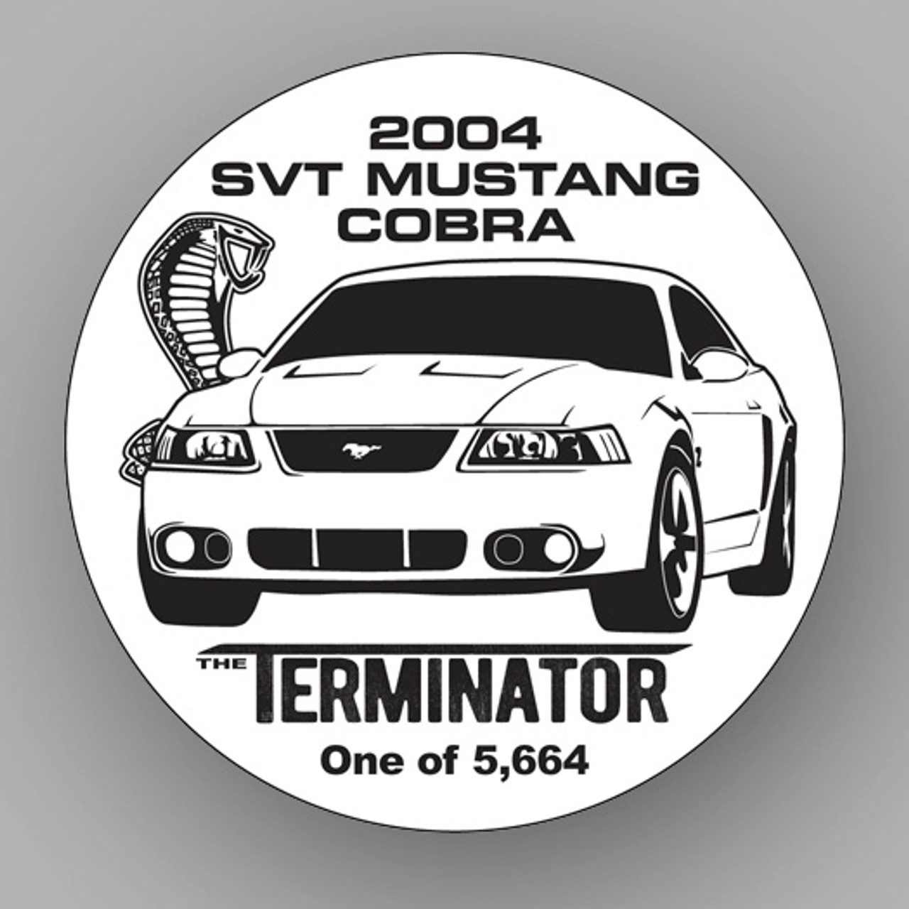 "SVT Cobra ""TERMINATOR"" Window Cling"