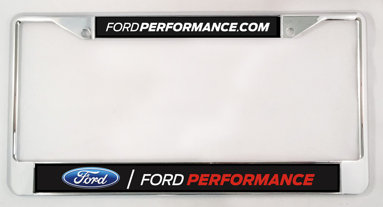 Chrome License Plate Frame - Ford Performance
