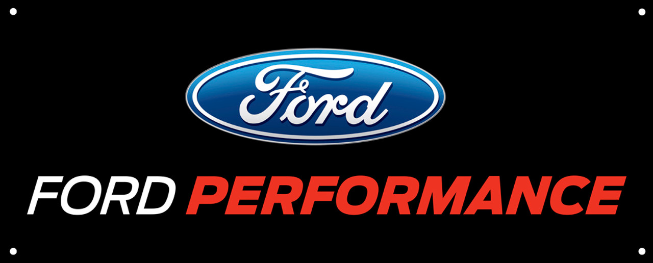 "Ford Performance Logo Banner 60""x24"""