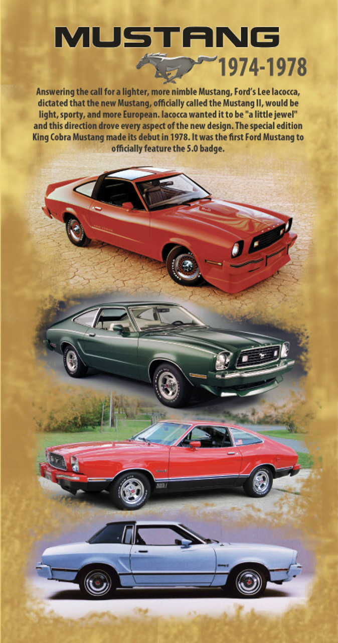 "Mustang Generation Banners 18""x36"""