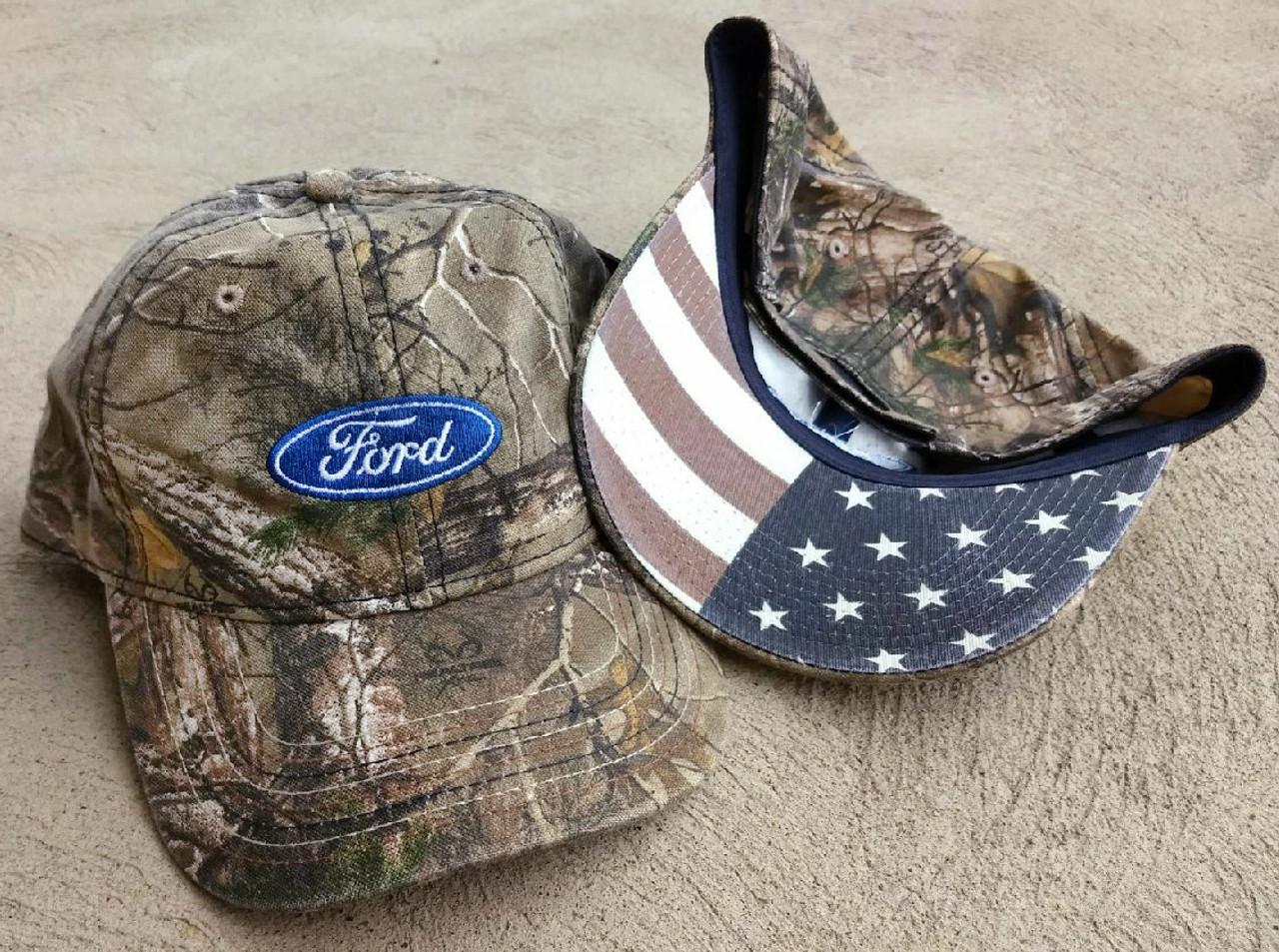 Ford American Flag Cap - RealTree Camo