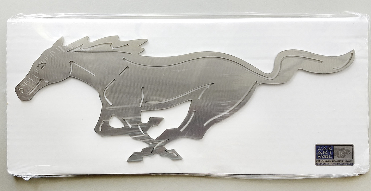 Mustang Pony Wall Art - Silver - 12""