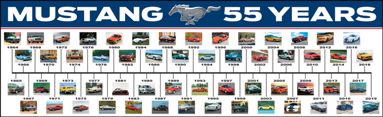 """Mustang 55 Years Poster 36""""x11"""""""