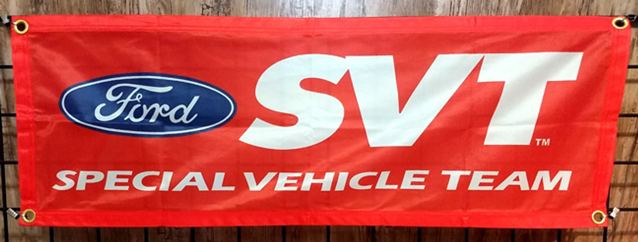 Mustang & Ford Fabric Garage Banners - 36x12""