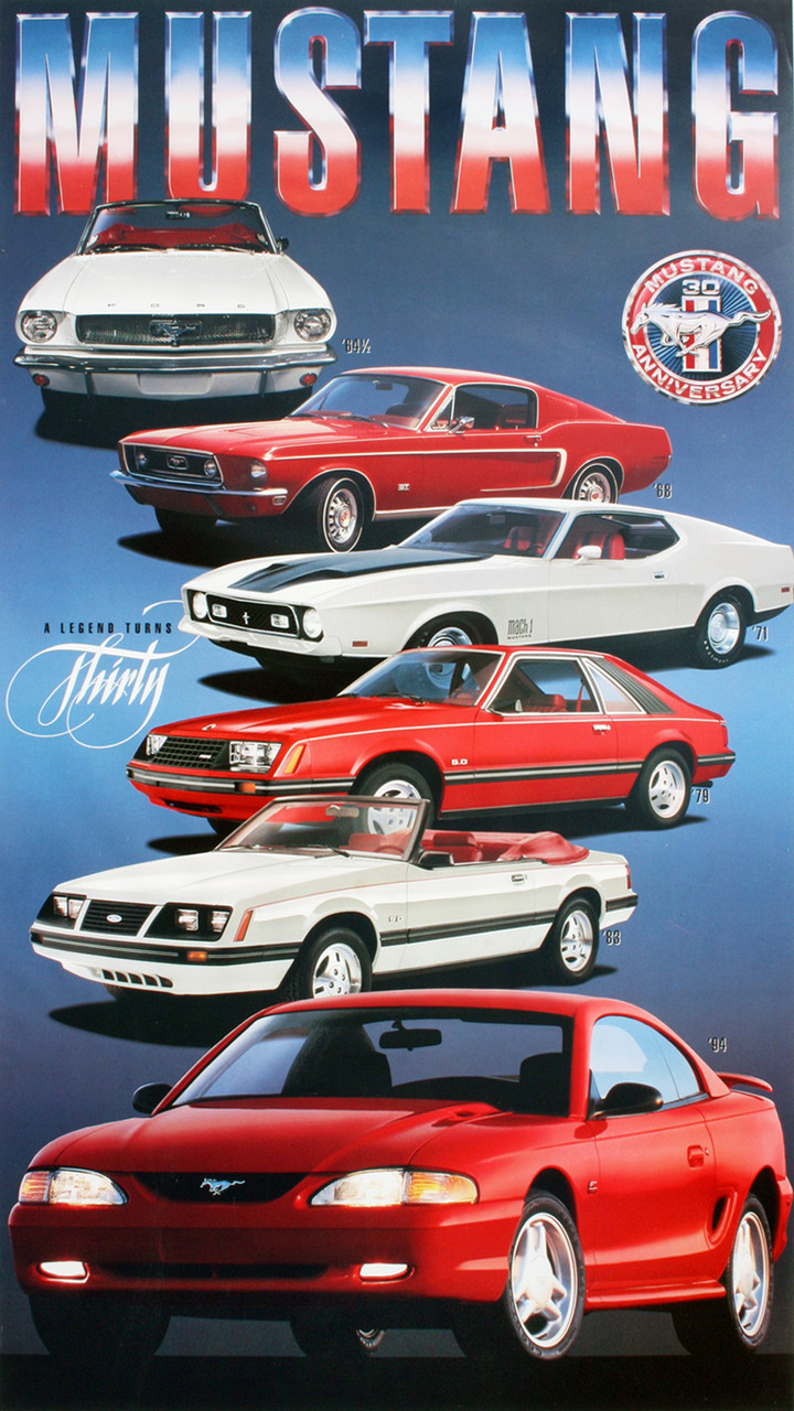 Mustang 30 Years Poster - 1994