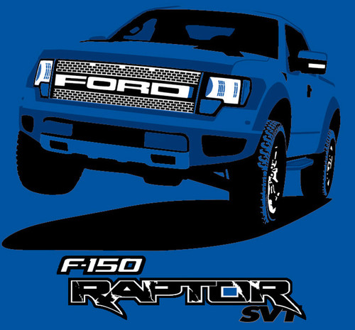 SVT Raptor Graphic T-shirt - Blue