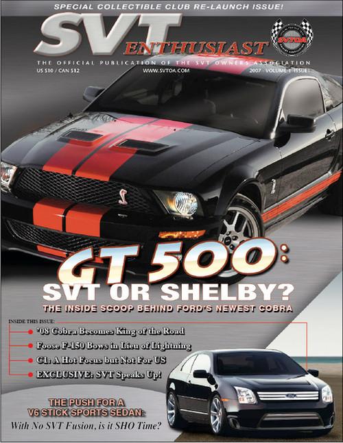 SVT Enthusiast Magazine Vol 1 Issue 1 - 2007