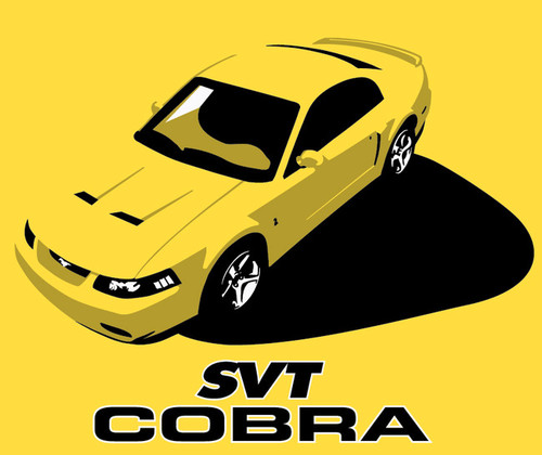 SVT Cobra Terminator Graphic T-shirt - YELLOW