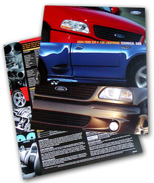 2004 SVT Lightning Tech Card - Set of 2
